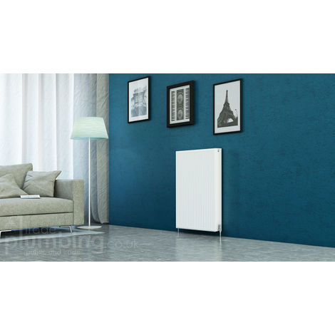 Kartell Kompact Type 22 Double Panel Double Convector Radiator 900mm x 700mm White