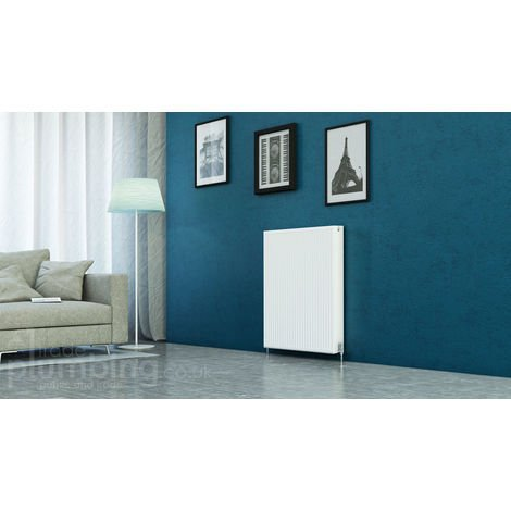 Kartell Kompact Type 22 Double Panel Double Convector Radiator 900mm x 800mm White