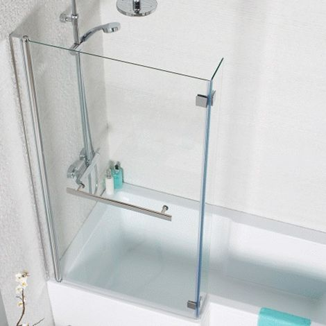 Kartell Koncept L Shaped Tetris Shower Bath Screen