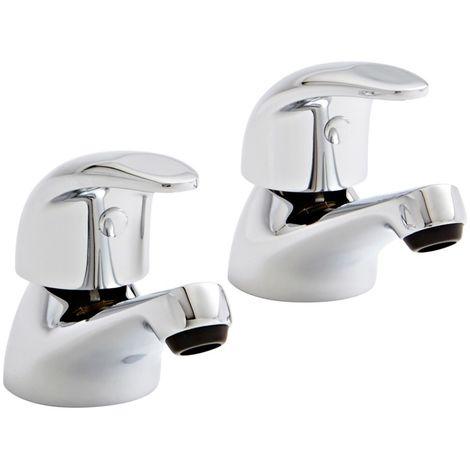 Kartell Koral Brass Bath Tap Pair