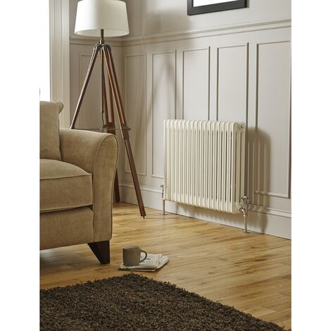 Kartell Laser Klassic White 600mm x 650mm Double Column Horizontal Radiator - LCL206014