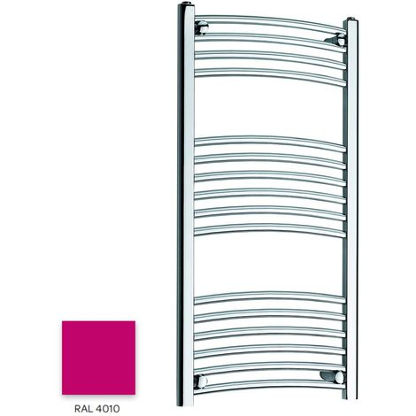 Kartell Magenta 1000mm x 300mm Curved 22mm Towel Rail - CTR310-RAL4010