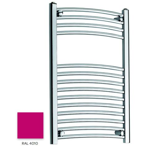 Kartell Magenta 800mm x 300mm Curved 22mm Towel Rail - CTR308-RAL4010