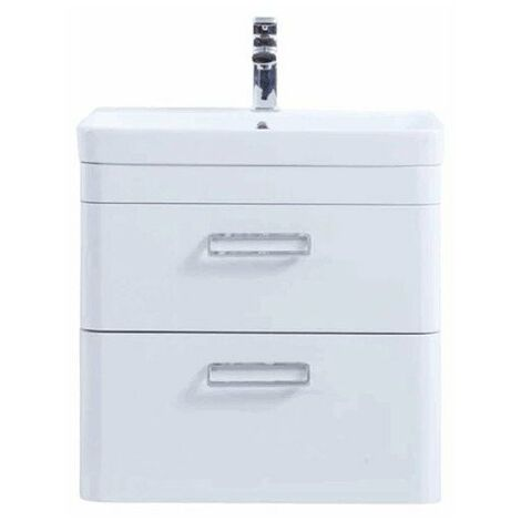 """main image of """"Kartell Metro Wall Hung Drawer Unit and Basin 600mm"""""""