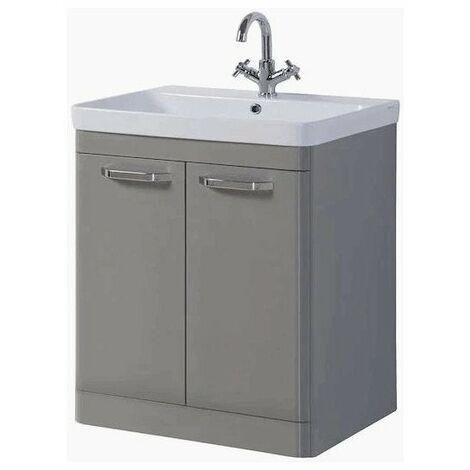 Kartell Options 2-Door Floor Standing Vanity Unit with Basin 800mm Besalt Grey - 1 Tap Hole