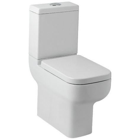 Kartell Options 600 Ceramic Comfort Height Toilet WC Pan With Cistern & Soft Close Seat