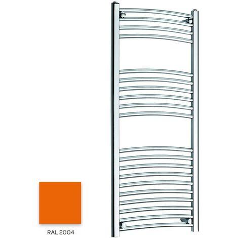 Kartell Orange 1200mm x 300mm Curved 22mm Towel Rail - CTR312-RAL2004