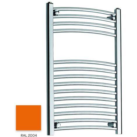 Kartell Orange 800mm x 300mm Curved 22mm Towel Rail - CTR308-RAL2004