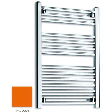 Kartell Orange 800mm x 300mm Straight 22mm Towel Rail - STR308-RAL2004