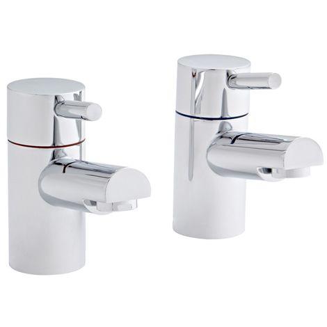 Kartell Plan Brass Bath Tap Pair