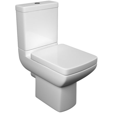 Kartell Pure Ceramic Toilet Closed Couple Toilet WC Pan With Cistern & Soft Close Seat