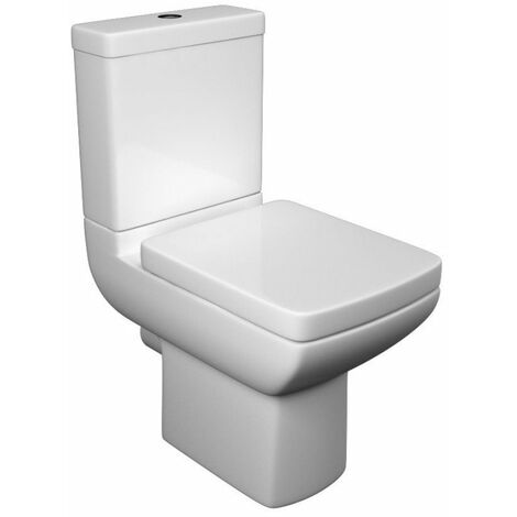 Kartell Pure Close Coupled Toilet Pan, Cistern & Soft Close Seat