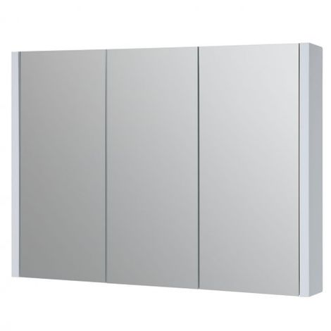 Kartell Purity Mirrored Bathroom Cabinet 600mm W White