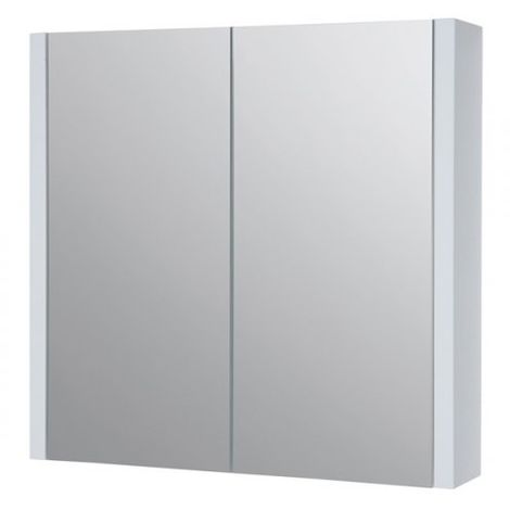 Kartell Purity Mirrored Bathroom Cabinet 750mm W White
