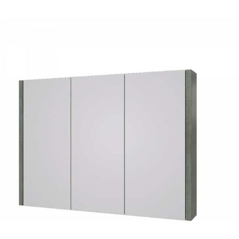 Kartell Purity Mirrored Bathroom Cabinet 900mm W Grey Ash