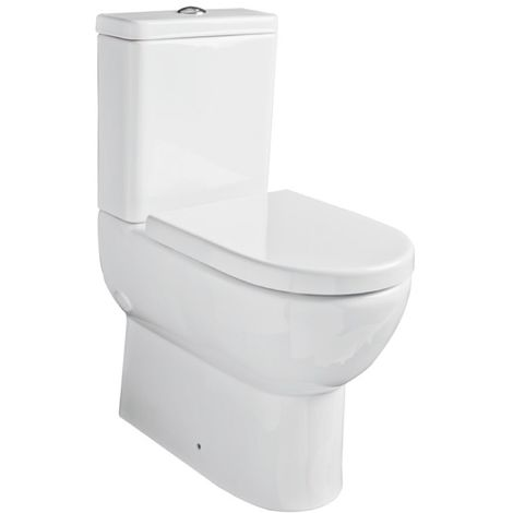 Kartell Ratio Ceramic Comfort Height Toilet WC Pan With Cistern & Soft Close Seat