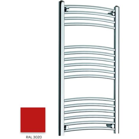 Kartell Red 1000mm x 300mm Curved 22mm Towel Rail - CTR310-RAL3020
