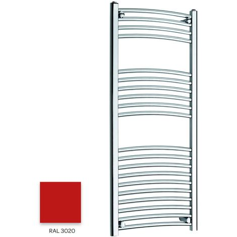 Kartell Red 1200mm x 300mm Curved 22mm Towel Rail - CTR312-RAL3020