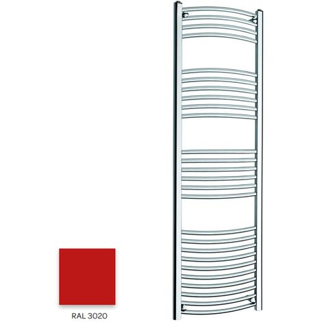 Kartell Red 1600mm x 300mm Curved 22mm Towel Rail - CTR316-RAL3020