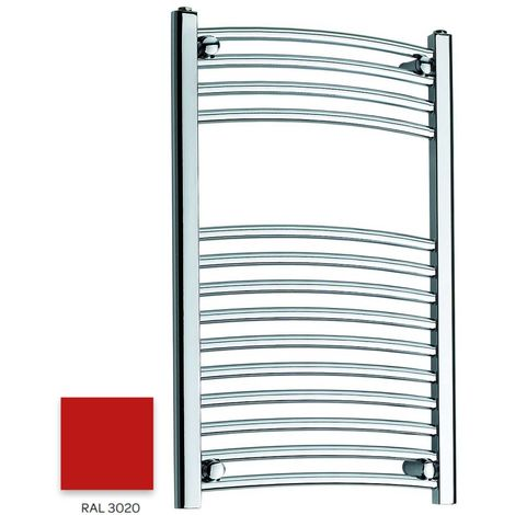Kartell Red 800mm x 300mm Curved 22mm Towel Rail - CTR308-RAL3020