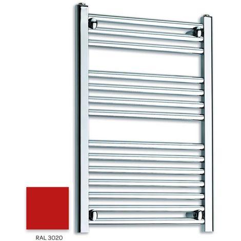 Kartell Red 800mm x 300mm Straight 22mm Towel Rail - STR308-RAL3020
