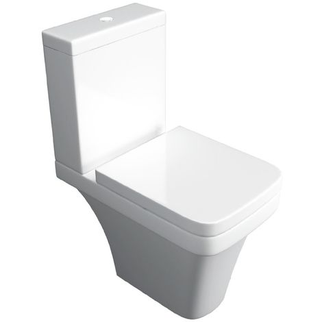 Kartell Sicily Ceramic Comfort Height Toilet WC Pan With Cistern & Soft Close Seat