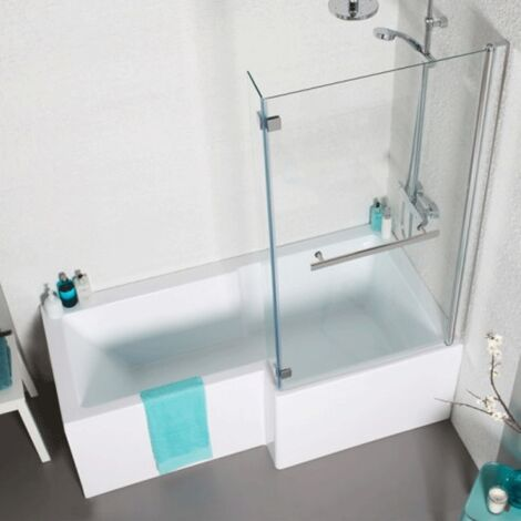 Kartell Tetris 1500mm X 850mm Square Shaped Right Hand Shower Bath Only