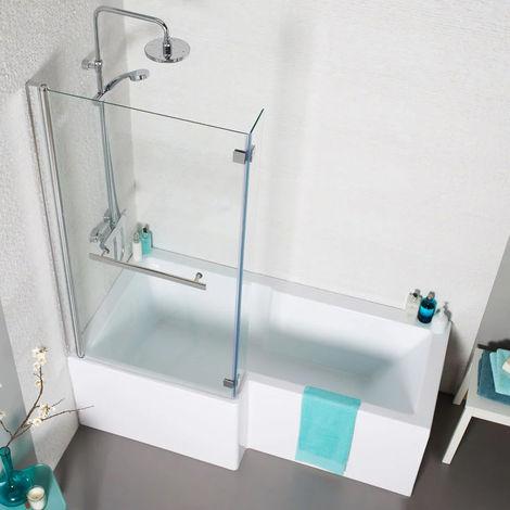 Kartell Tetris Square Shaped Shower Bath 1500mm X 850mm Left Hand Only