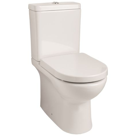 Kartell Tria Rimless Ceramic Closed Couple Toilet WC Pan With Cistern & Soft Close Seat
