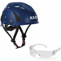 KASK KASK Schutzhelm, Bergsteigerhelm, Industriekletterhelm Plasma AQ - Arbeitsschutz-Helm + Schutzbrille klar - EN 397