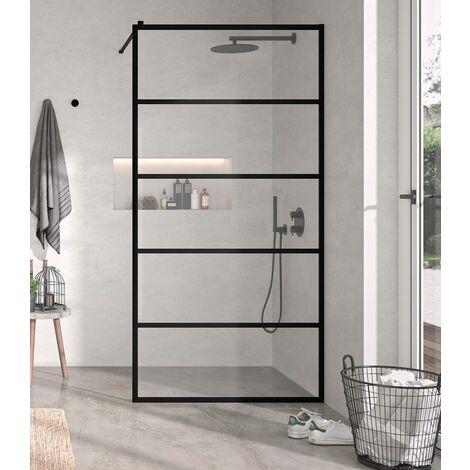 KASSANDRA FR103 FRESH Fijo Ducha Aluminio Negro Mate Decorado Lineas