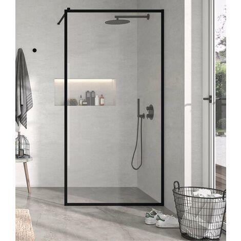 KASSANDRA FR103 FRESH Fijo Ducha Aluminio Negro Mate Transparente