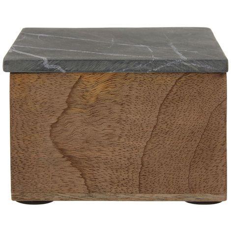 Kata Trinket Box (Small), Slate, Mango Wood