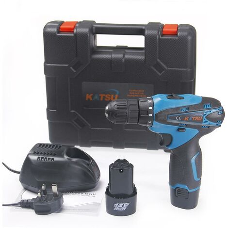 KATSU 12V Lithium Ion Cordless Drill Driver Twin Battery with BMC
