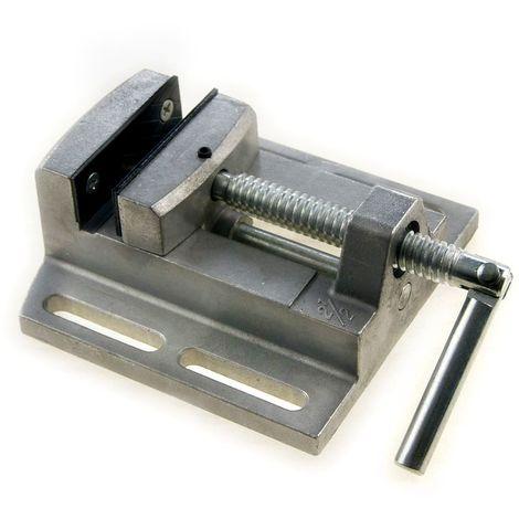 """KATSU 2.5"""" Mini Pillar Drill Press Vice Milling Workshop Dual Jaw Aluminium"""