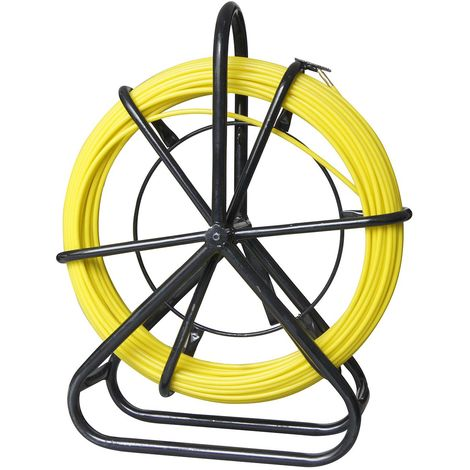 KATSU 6 X 50m Duct Rodder, Fiberglass Electric Cable Wire Pipe Installation Tool