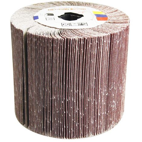 KATSU Abrasive Flap Sanding Wheel Drum Roll for Linear Finishing Machines and burnishers 180 Grit
