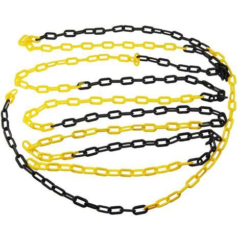 KATSU Black And Yellow Barrier Plastic Chain 5mm 25meters
