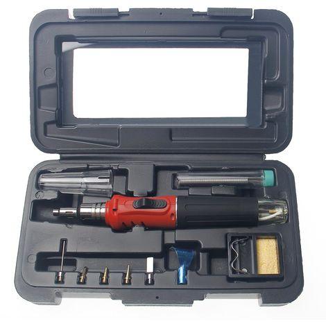 SEALEY Cordless Butane GAS Soldering//Solder Iron//Hot Air Torch Kit Tips AK2962