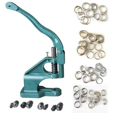KATSU Eyelet Punch Machine W 400 Eyelets 6 10 12 14MM Press Hole Tool Grommet Set Kit
