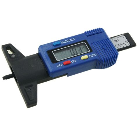 KATSU Fiber Carbon Digital Tyre Depth Measuring Gauge 0-25.4 Blue