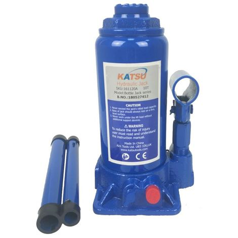 KATSU Hydraulic Bottle Jack 10 Ton Heavy Duty Lifting Stand For Small Or Large Vehicles