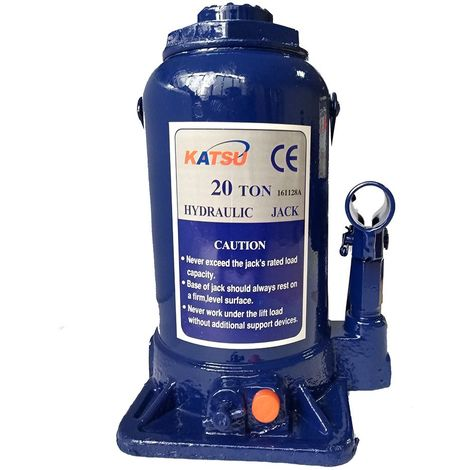 KATSU Hydraulic Bottle Jack 20 Ton Heavy Duty Lifting Stand For Small Or Large Vehicles