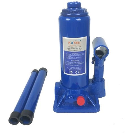KATSU Hydraulic Bottle Jack 5 Ton Heavy Duty Lifting Stand For Small Or Large Vehicles