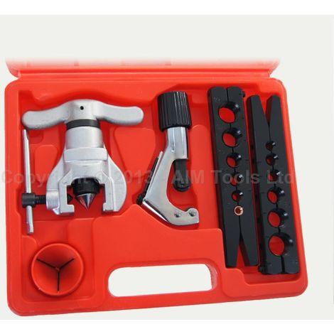 KATSU Metric & Imperial Flaring Tool Kit 4PC Set CU AL Pipe Tube Cutter 4-28MM