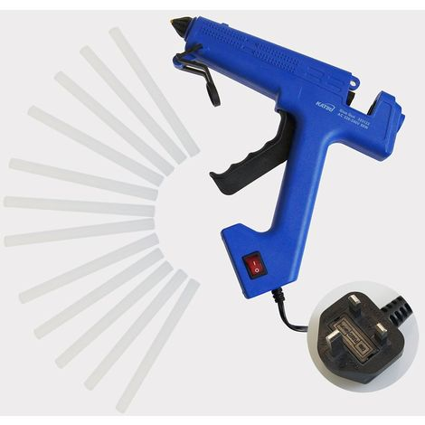 KATSU Professional Glue Gun Electric Heating Melt Gun with 12 Sticks