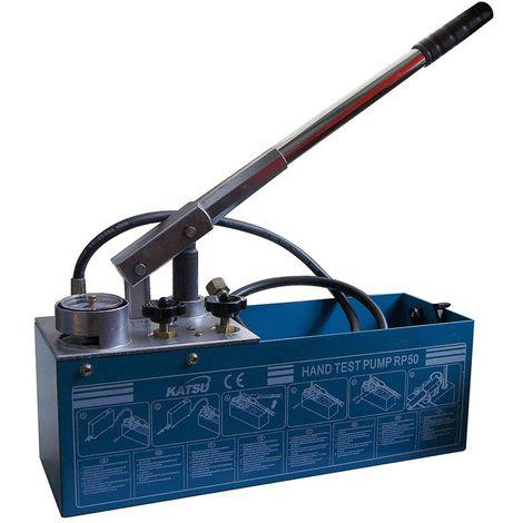 KATSU Tools 318923 Water Pressure Pump 0-50 Bar Manual Push Testing Hand Tool, Multi-Colour, 12 Litre