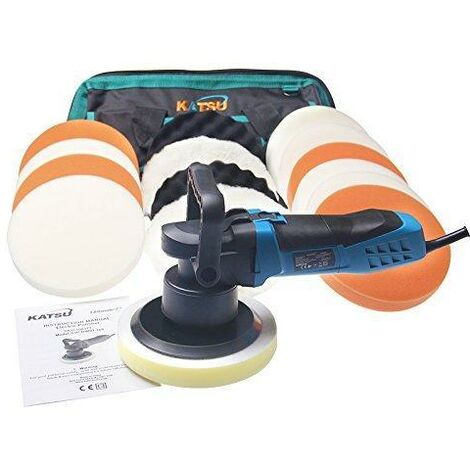 KATSU Tools Dual Action Polisher Set 600W With Polishing Pads and Tool Bag
