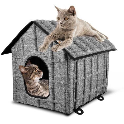 Katzenhaus Katzenhöhle für Katzen Winterfest Katzenhöhle Faltbar Hautier Haus mit Abnehmbarem Matratze Weich und Warm für Hund Katze Hündchen Kaninchen