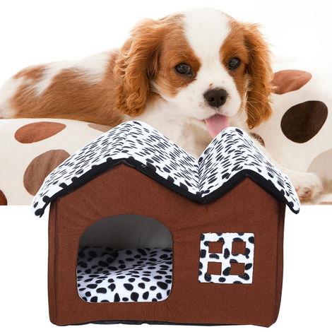 Katzenhaus Sleep Hide Play Hundehütte Wohnungs Hundehöhle Haustier Schlafplatz 47*42*42cm